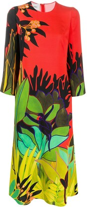 Valentino Monkey Forest print midi dress