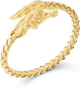 Macy's Woven Horse Bangle Bracelet in 14k Gold Vermeil