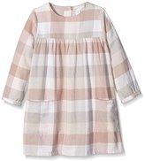 Mamas and Papas Baby-Girls Smock Large Check Checkered Long Sleeve Dress