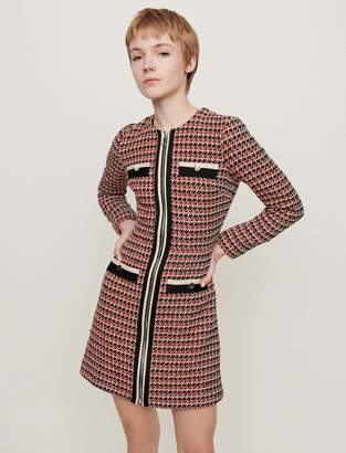 Maje Tweed-style contrast dress