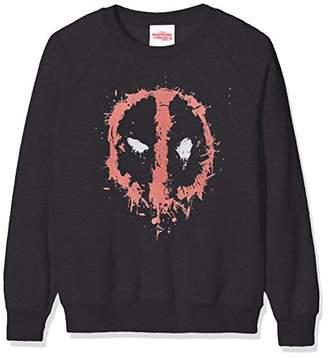 Marvel Girl's Deadpool Splat Face Sweatshirt,(Size:7-8Y)