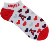 For Bare Feet Women's Los Angeles Angels of Anaheim Heart Logo Repeat Socks