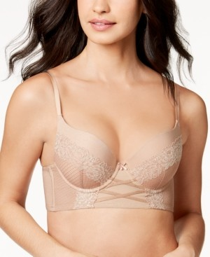 INC International Concepts Inc Lace Corset Longline Bra, Created for Macy's