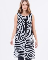 Wallis Zebra Split Front Top