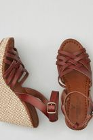 American Eagle Outfitters AE Strappy Ankle Wrap Wedge Sandal
