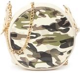 Mali & Lili Kris Vegan Leather Camo Canteen Crossbody Bag
