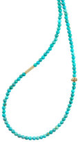 Lagos Icon Beaded Turquoise Station Necklace, 34""