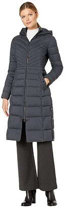 Bernardo Fashions EcoPlume Soft Touch Maxi Packable Puffer Parka (Black) Women's Jacket