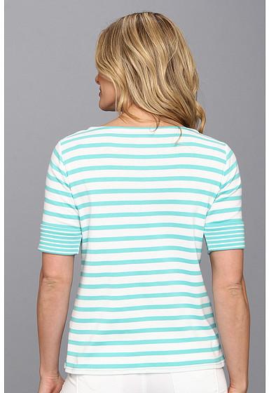 Pendleton Roll Sleeve Stripe Rib Tee