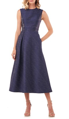 Kay Unger Belinda Fit & Flare Dress