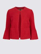 Per Una Cotton Rich Frill Sleeve Jacket