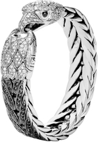 John Hardy Men's Legends Eagle 15MM Bracelet, Sterling Silver, Black Sapphire, Pave White Diamond (3.76ct)