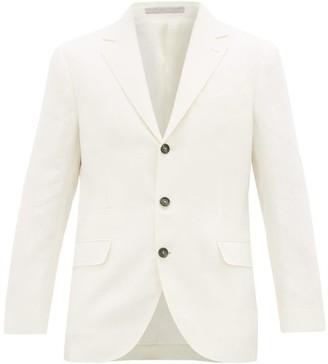 Brunello Cucinelli Single-breasted Linen-twill Blazer - White