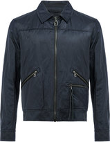 Lanvin creased effect bomber jacket - men - Cotton/Calf Leather/Polyamide/metal - 50