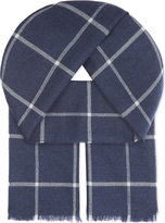 Johnstons Heritage Check Merino Wool Scarf