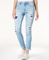 Tinseltown Juniors' Rip and Repair Slim Boyfriend Jeans