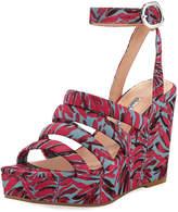 Charles David Judy Strappy Fabric Wedge Sandal
