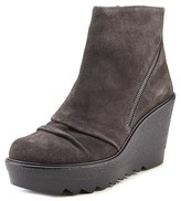 Vince Camuto Dasan Women Open Toe Suede Gray Wedge Heel.