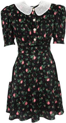 Miu Miu Floral Bib Collar Dress