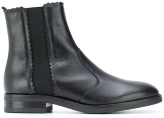 See by Chloe Scallop-Edge Chelsea Boots