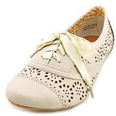 Not Rated Rosebud Women Round Toe Synthetic Nude Oxford.