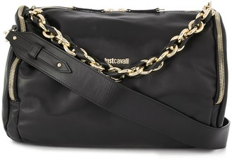 Just Cavalli Logo Chain Shoulder Bag