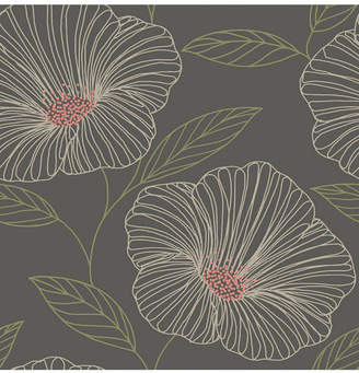 """Brewster Home Fashions Mythic Floral Wallpaper - 396"""" x 20.5"""" x 0.025"""""""