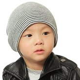 FEITONG Baby Beanie Boy's Soft Hat Children Winter Warm Kids Knitted Cap (Black)
