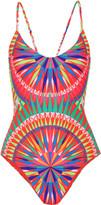 Mara Hoffman Cutout printed swimsuit