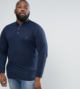 French Connection PLUS Slim Fit Long Sleeve Jersey Polo