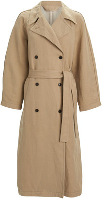 Samsoe & Samsoe Magda Double-Breasted Trench Coat