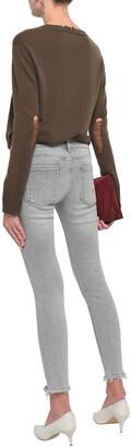 Current/Elliott Distressed Mid-rise Skinny Jeans
