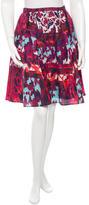 Peter Pilotto Silk Printed Skirt w/ Tags