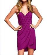 EkarLam® Womens Beachwear Spaghetti Strap Backless Bikini Swimwear Wrap Cover-up Dress