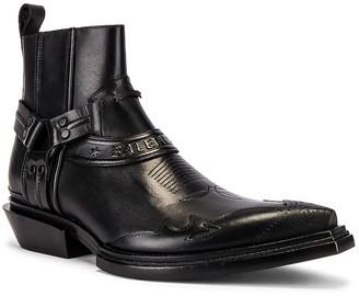 Balenciaga Santiag Bootie L40 in Black & Black | FWRD