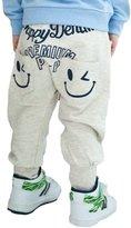 TRURENDI Kids Children Boys Casual Pocket Pants Printed Harem Pants Trousers Toddlers Pants Size 2-7Y-/
