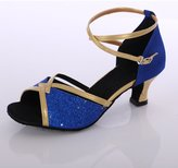 Generic Professional Women's girl's sandals Glitter Upper latin/ballroom/salsa Dance Shoes High Heel