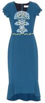 Peter Pilotto Lace-panelled crêpe dress
