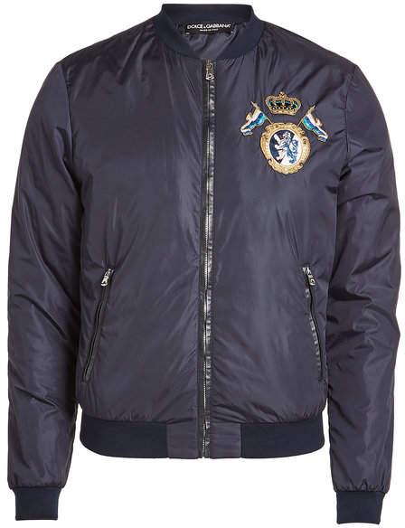 Dolce & Gabbana Jacket with Leather Trim