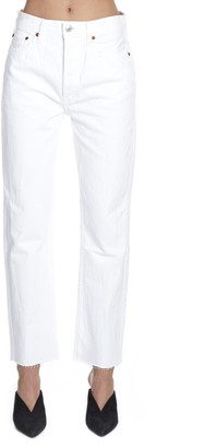 RE/DONE High-Waisted Straight Leg Jeans
