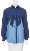 Torn By Ronny Kobo Button Up Fringe Blouse