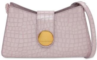 Elleme Baguette Croc Embossed Shoulder Bag
