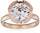 Thomas Sabo Women-Ring Glam & Soul 925 Sterling Silver 18k rose gold plating Zirconia white Size M 1/2 (16.6) TR2038-416-14-52
