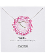 Dogeared Sterling Silver Wish Wishbone Necklace