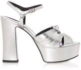 Saint Laurent Candy Leather Platform Sandals