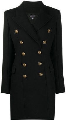 Balmain Double-Breasted Fitted Coat