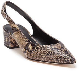 Via Spiga Snake Embossed Gloria Pointed Toe Slingback Pump