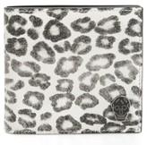Alexander McQueen Men's Leopard Print Leather Wallet - Beige