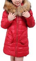 ZAMME Girls Kids Winter Down Coat Puffer Jacket Windbreaker Outwear