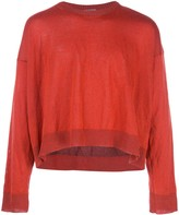 Lanvin cropped slouchy sweater